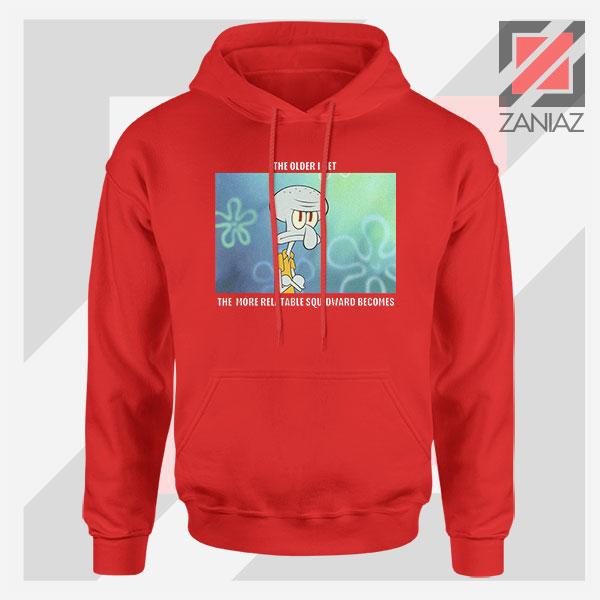 Squidward Meme Designs Red Hoodie