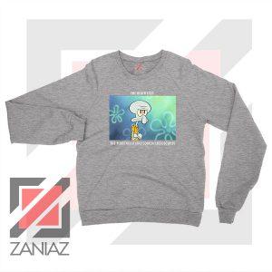 Squidward Meme Designs Sport Grey Sweatshirt
