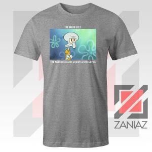 Squidward Meme Designs Sport Grey Tshirt