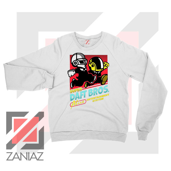 Super Daft Bros Parody White Sweatshirt