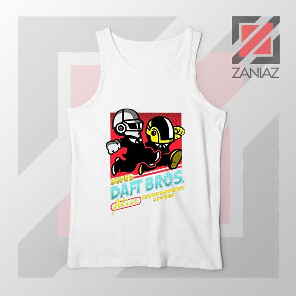Super Daft Bros Parody White Tank Top