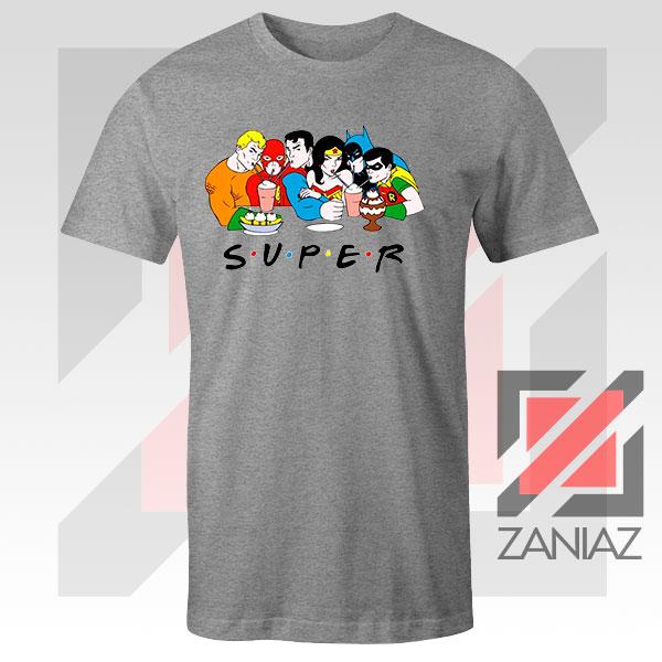 Super Friends DC Comics Graphic Sport Grey Tshirt