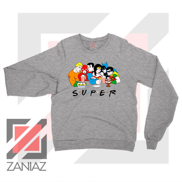 Super Friends DC Comics Sport Grey Sweatshirt