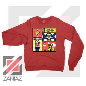 Super Mario Art Celebrate Red Sweatshirt