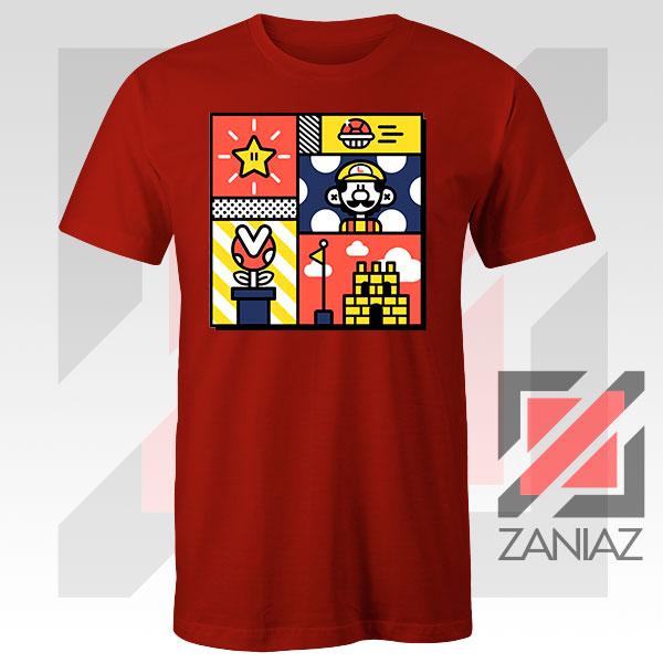 Super Mario Art Celebrate Red Tshirt