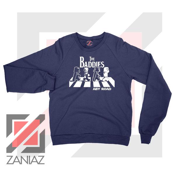 The Baddies Abbey Road Star Wars Navy Blue Sweatshirt