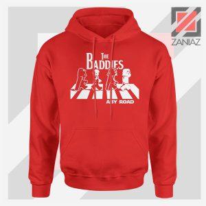 The Baddies Abbey Road Star Wars Red Hoodie