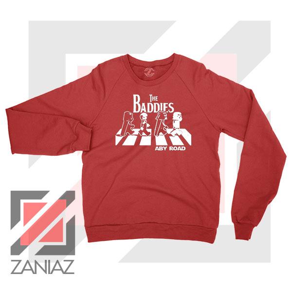 The Baddies Abbey Road Star Wars Red Sweatshirt