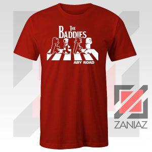 The Baddies Abbey Road Starwars Red Tshirt