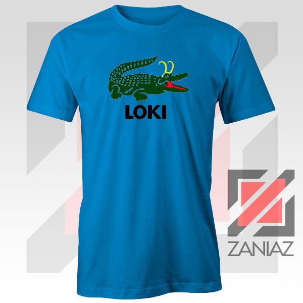 The Glorious Alligator Loki Blue Tshirt