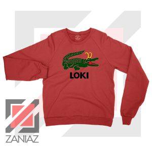 The Glorious Alligator Loki Red Sweatshirt