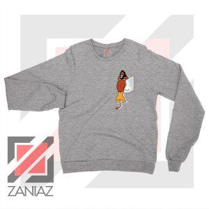 The King Mufasa Falling Graphic Grey Sweatshirt
