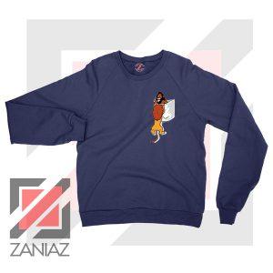 The King Mufasa Falling Graphic Navy Blue Sweatshirt