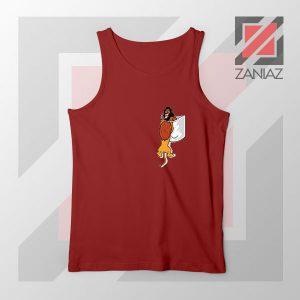 The Lion King Mufasa Falling Red Tank Top