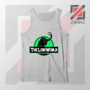 The Loki World Logo Jurassic Best Grey Tank Top