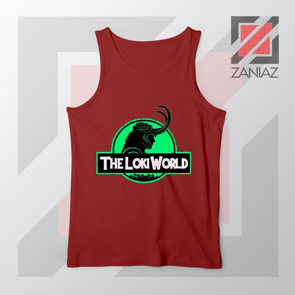 The Loki World Logo Jurassic Best Red Tank Top