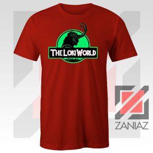 The Loki World Logo Jurassic Graphic Red Tee