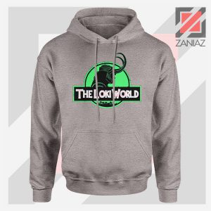 The Loki World Logo Jurassic Graphic Sport Grey Hoodie