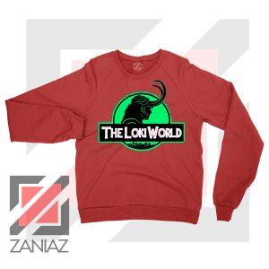 The Loki World Logo Jurassic Red Sweater