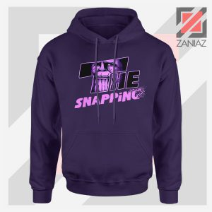 The Snapping Graphic Thanos Navy Blue Hoodie