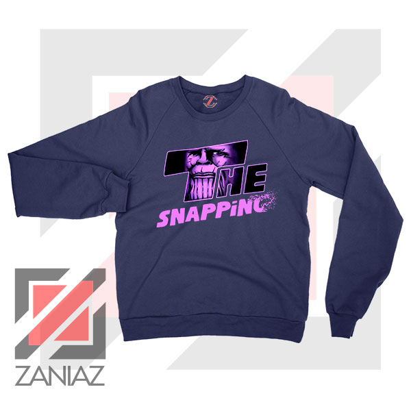 The Snapping Graphic Thanos Navy Blue Sweatshirt