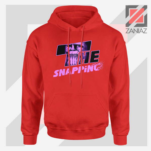 The Snapping Graphic Thanos Red Hoodie
