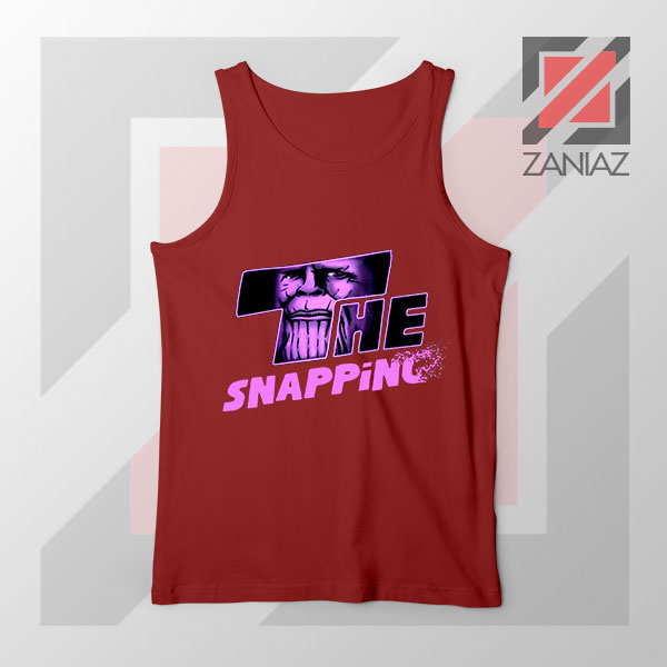 The Snapping Graphic Thanos Red Tank Top