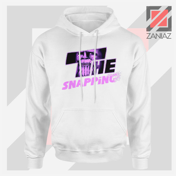 The Snapping Graphic Thanos White Hoodie