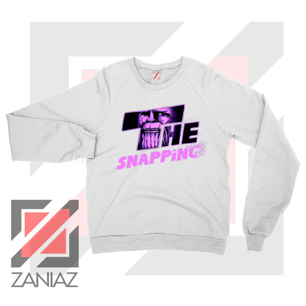 The Snapping Graphic Thanos White Sweatshirt