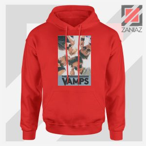 The Vamps Pop Band Red Hoodie