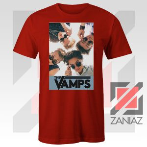 The Vamps Pop Band Red Tshirt