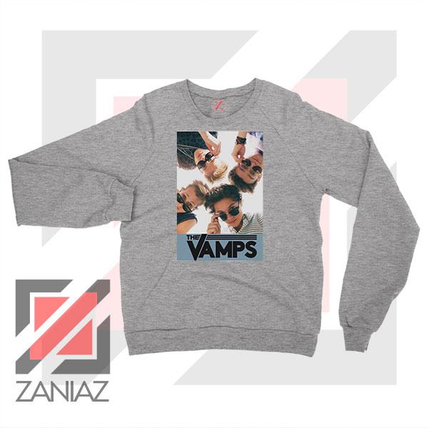 The Vamps Pop Band Sport Grey Sweatshirt