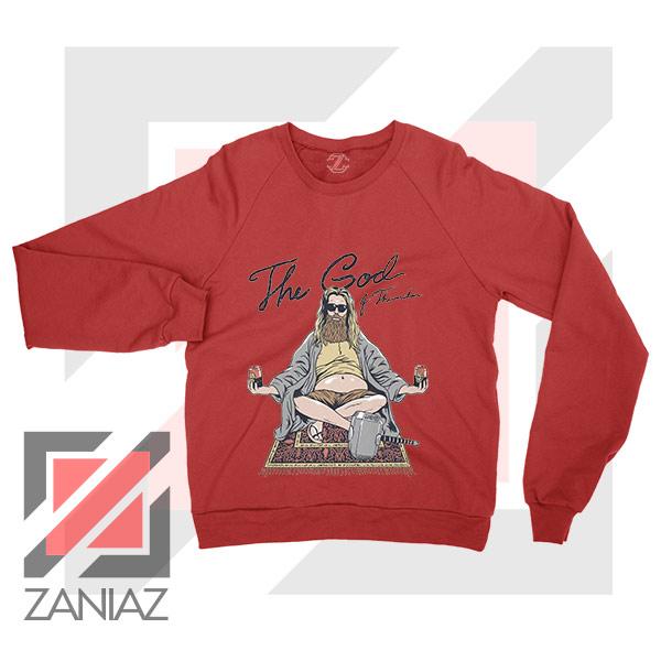 Thor Lebowski Film Designs Red Sweater