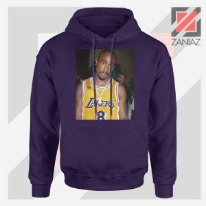 Tupac GOAT Lakers Navy Blue Hoodie