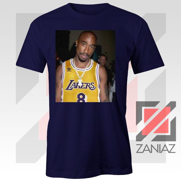 Tupac GOAT Lakers Navy Blue Tshirt
