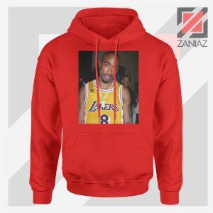 Tupac GOAT Lakers Red Hoodie