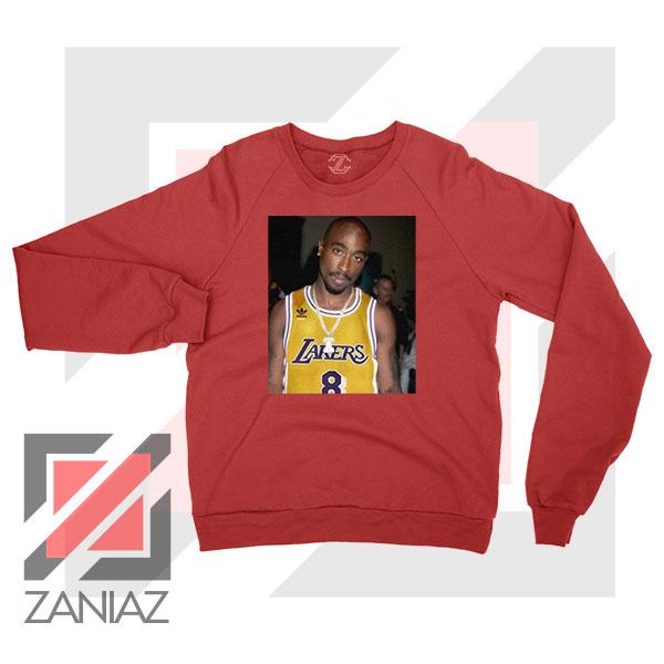 Tupac GOAT Lakers Red Sweatshirt