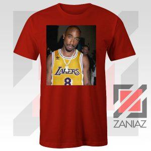 Tupac GOAT Lakers Red Tshirt
