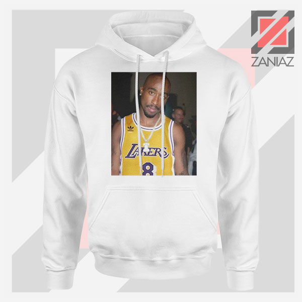 Tupac GOAT Lakers White Hoodie