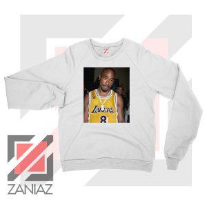 Tupac GOAT Lakers White Sweatshirt
