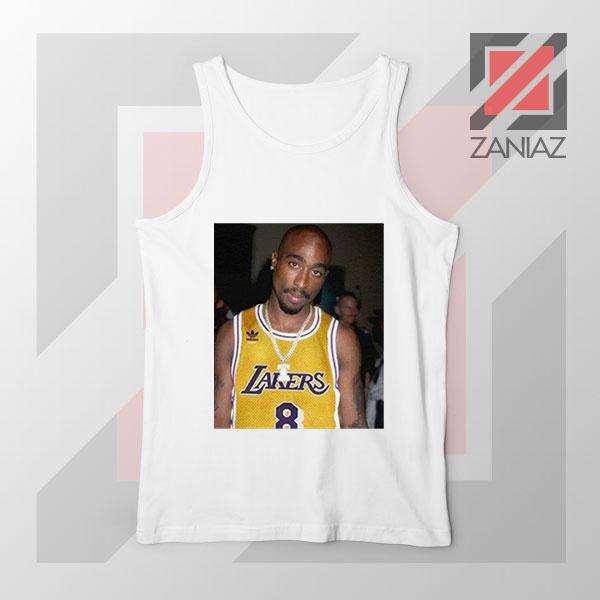 Tupac GOAT Lakers White Tank Top