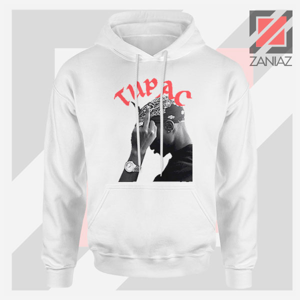 Tupac Middle Fingers Graphic Hoodie