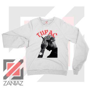 Tupac Middle Fingers Graphic Sweatshirt