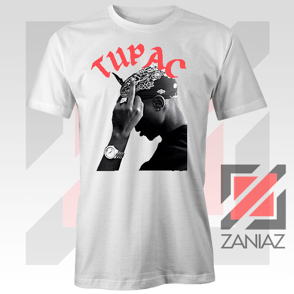 Tupac Middle Fingers Graphic Tee