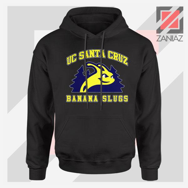 UC Banana Slugs Mascot College Black Hoodie