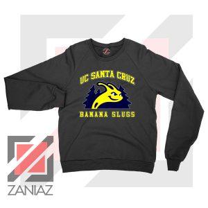 UC Banana Slugs Mascot College Black Sweatshirt