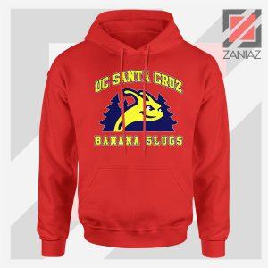 UC Banana Slugs Mascot College Red Hoodie