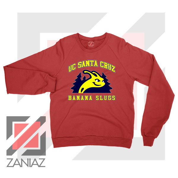 UC Banana Slugs Mascot College Red Sweatshirt