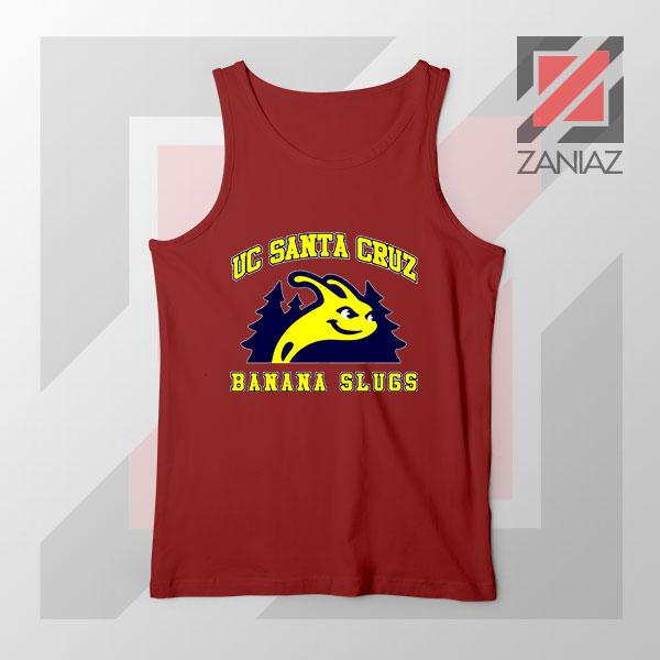 UC Banana Slugs Mascot College Red Tank Top