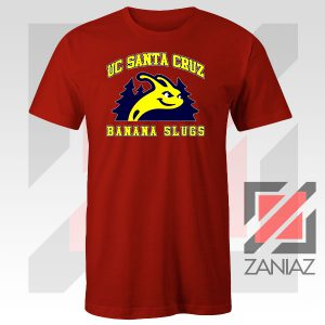 UC Banana Slugs Mascot College Red Tshirt